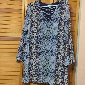 Speechless XL Chiffon dress w/ stappy neck